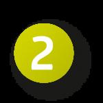 zwei zahl icon