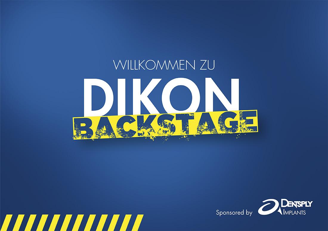 Keyvisual, Dikon, blau, gelb, Backstage, Vertrieb, internes Event