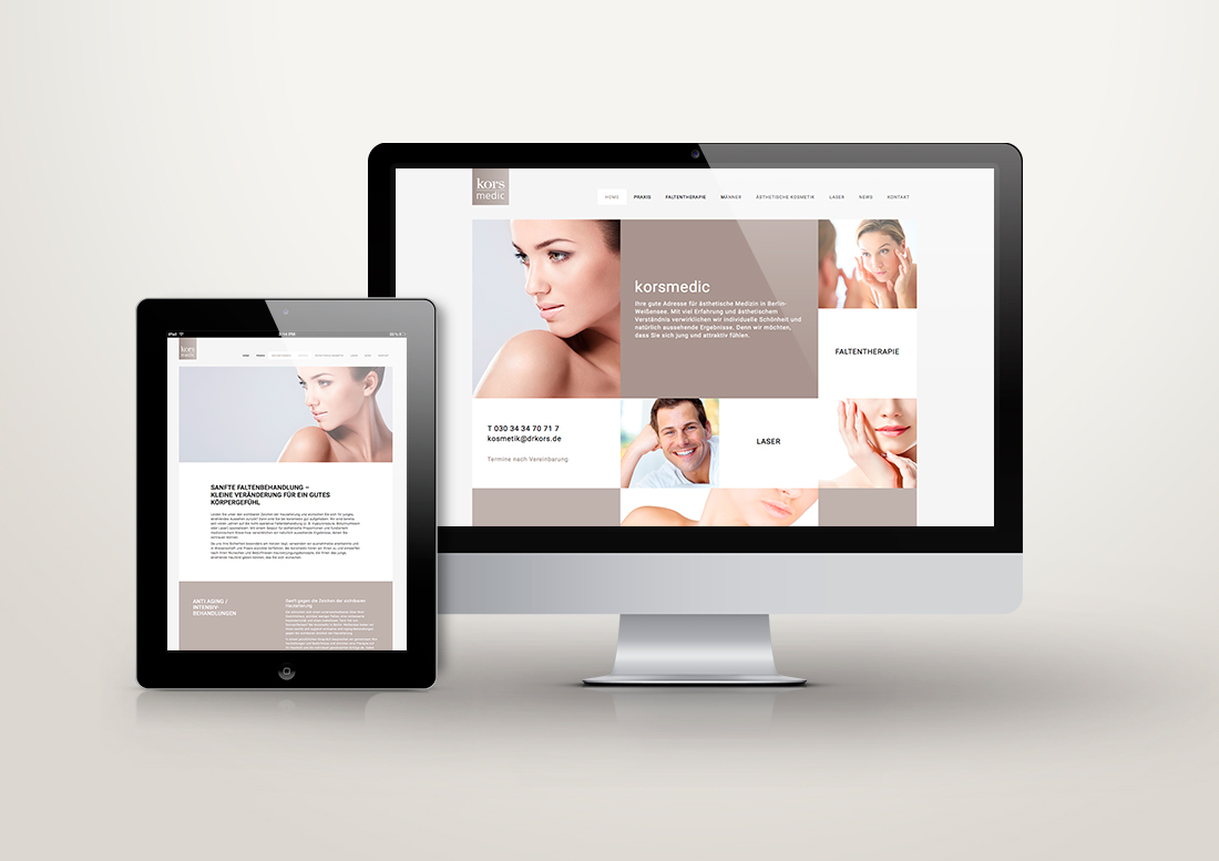 Screendesign, Response Design, Webseiten, beige