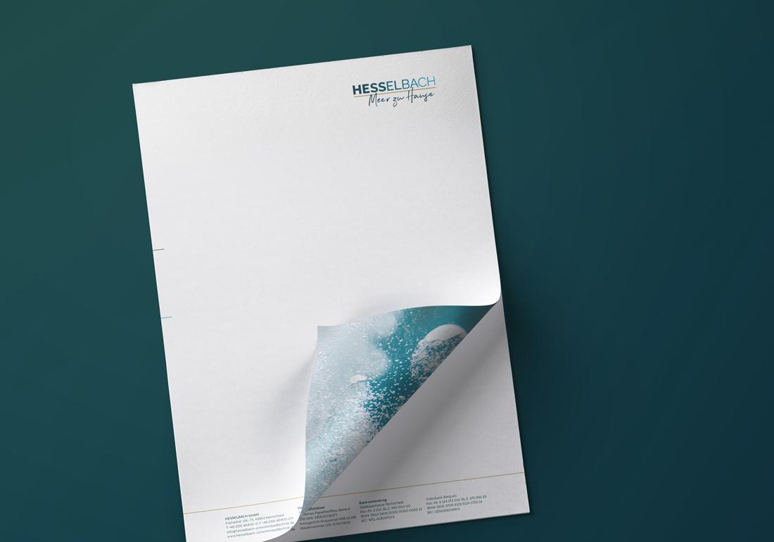 Printdesign des Briefbogens