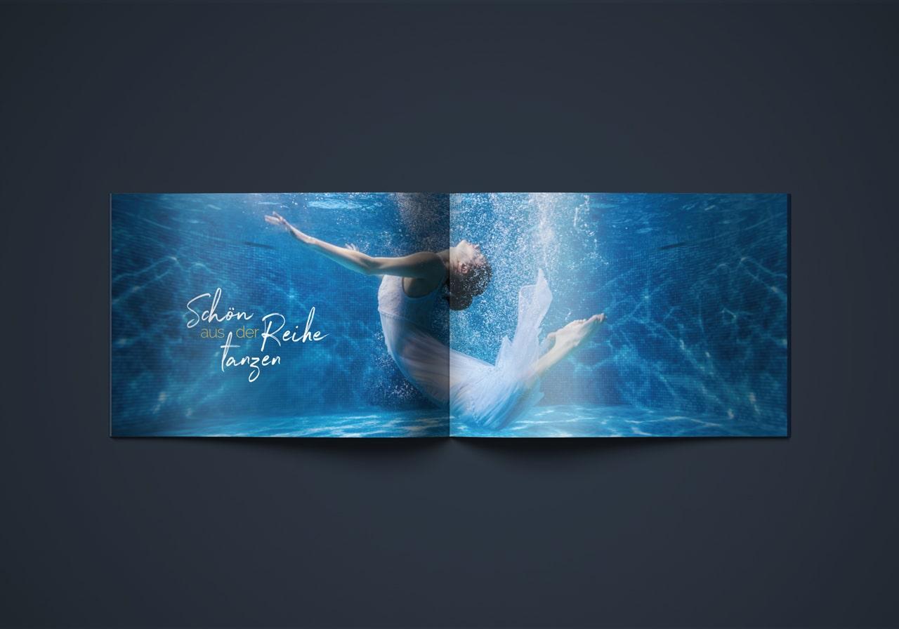 Design Broschüre Innenseite Layout