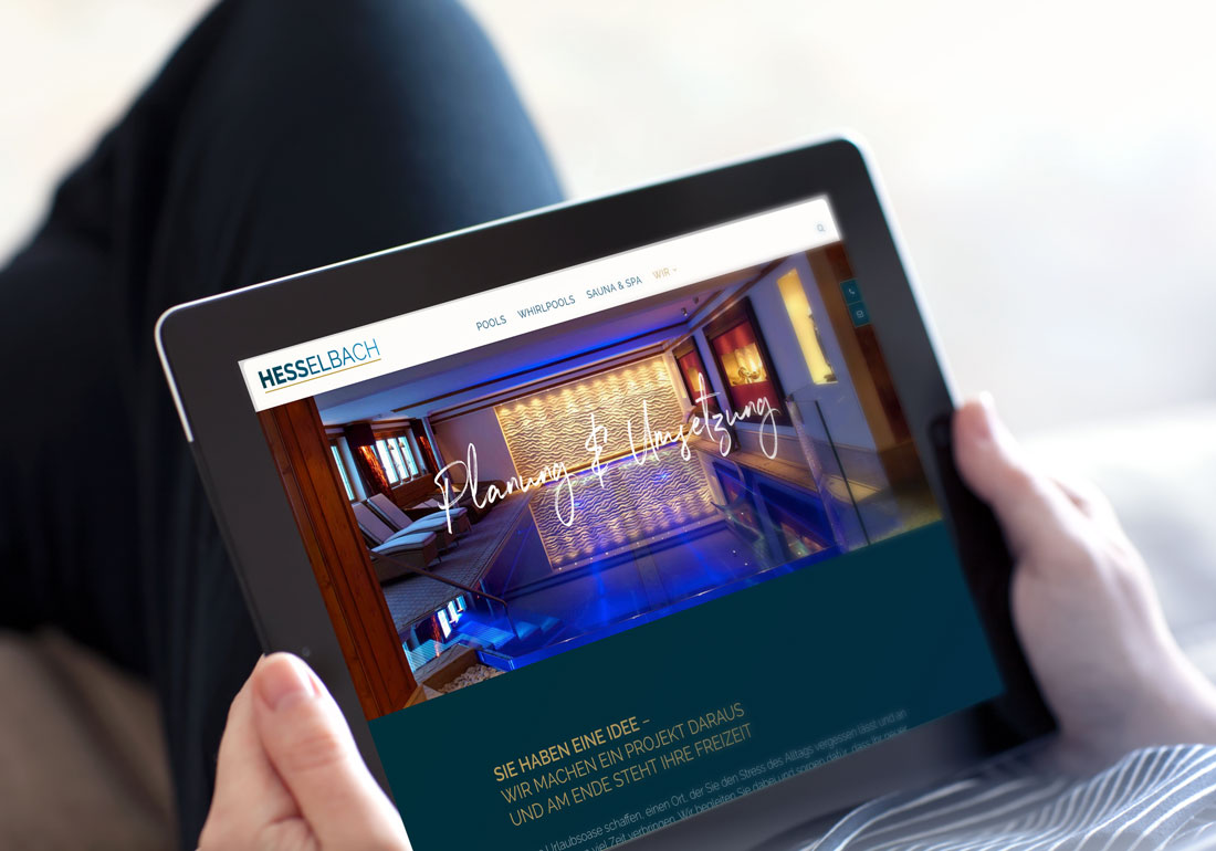 Webdesign für Poolhersteller in Düsseldorf