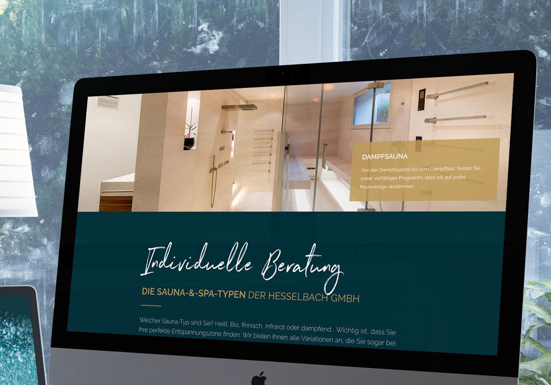 Neue Webseite für Hesselbach erstellt