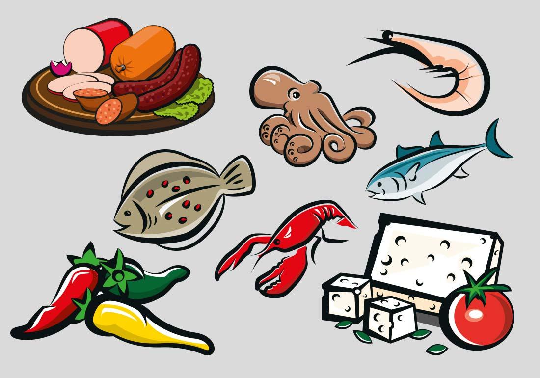 Lebensmittel Illustriationen Düsseldorf