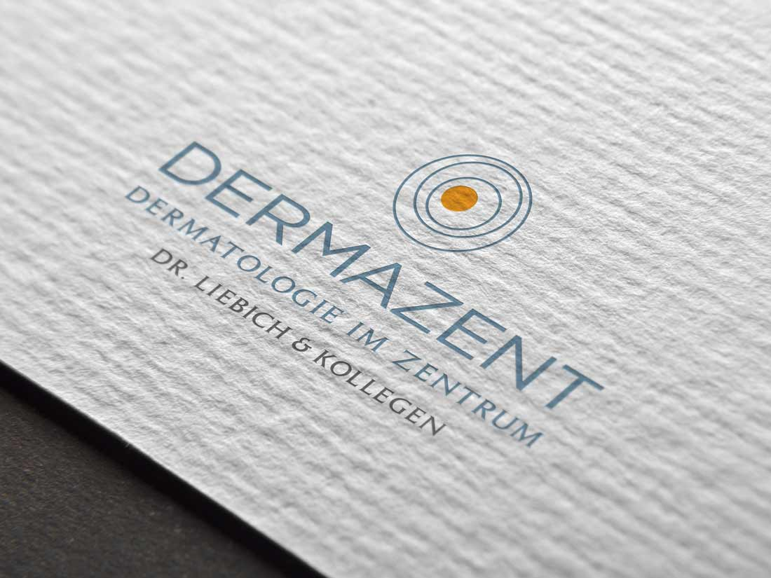 Logodesign Corporatedesign dermazent münchen