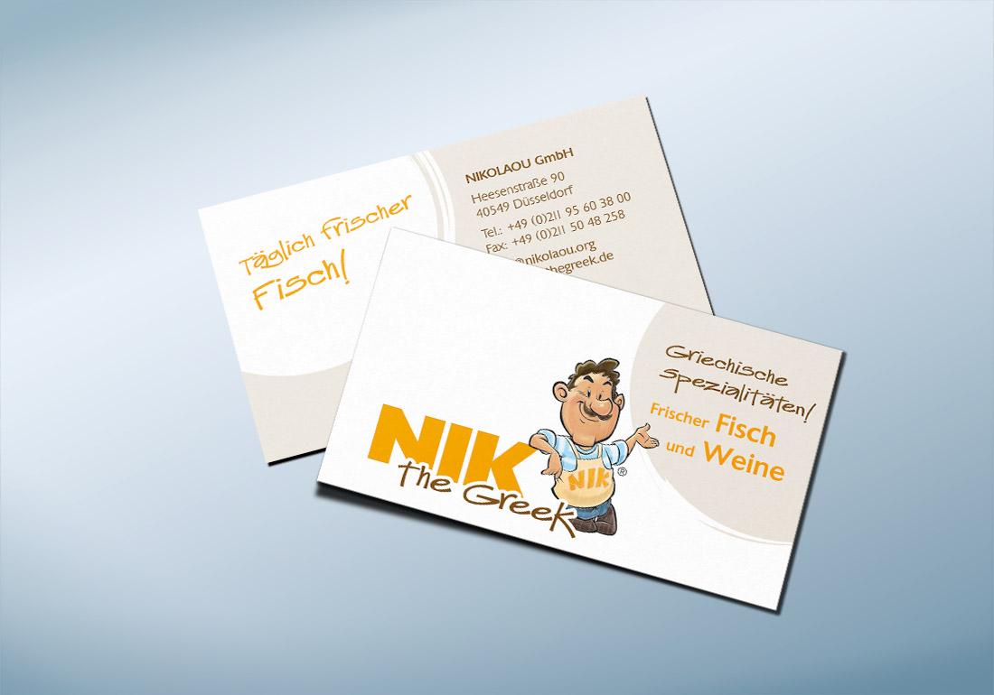 Visitenkarte NIK Design