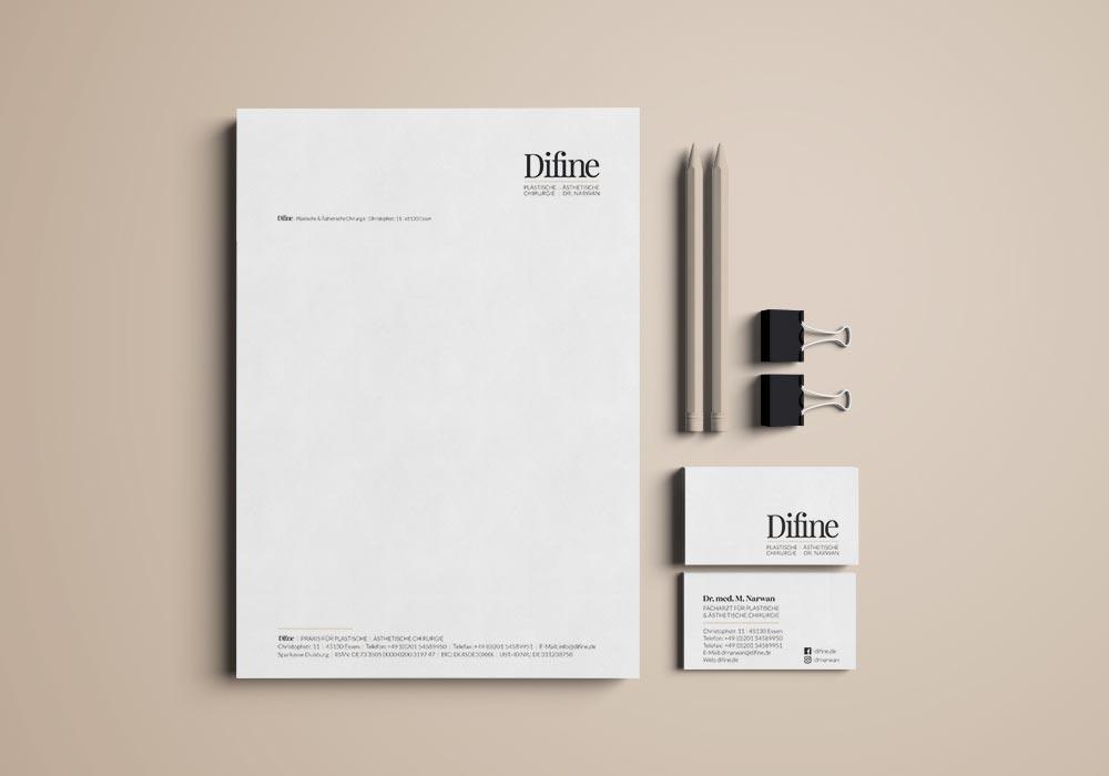 Briefpapier und Visitenkarten designen