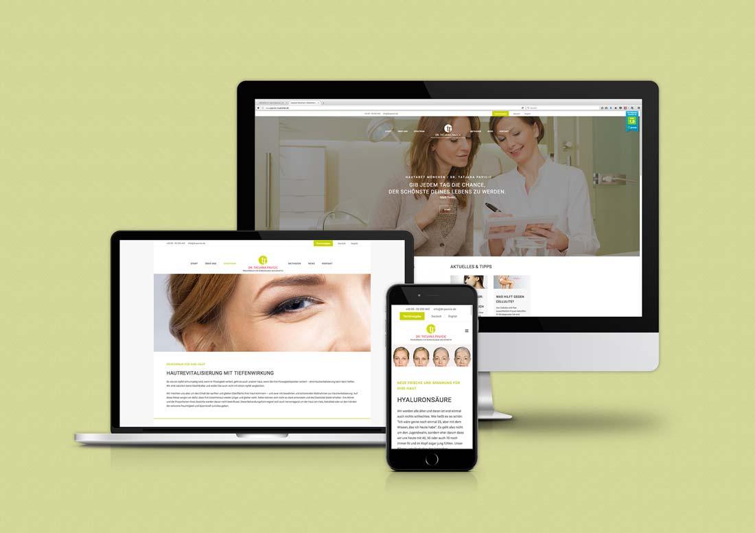 Webseite für Arztpraxis in München aus Düsseldorf