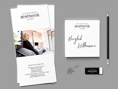 broschüre design notizblock logo
