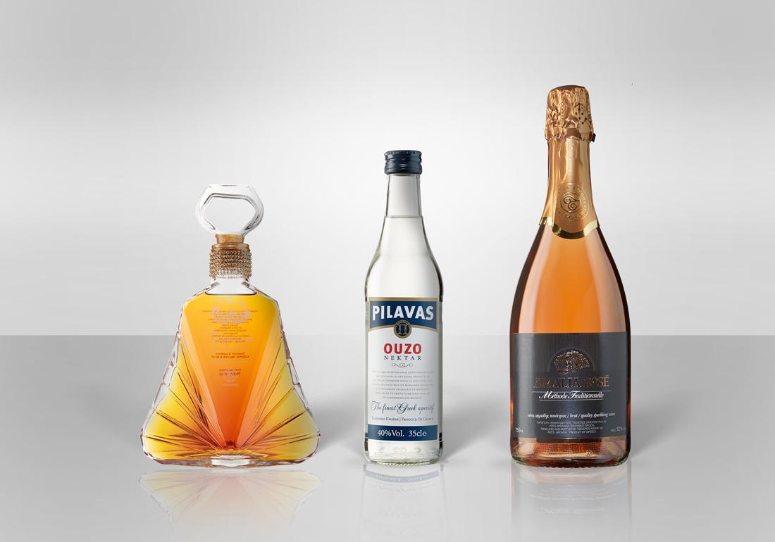 Fotografierte Flaschen