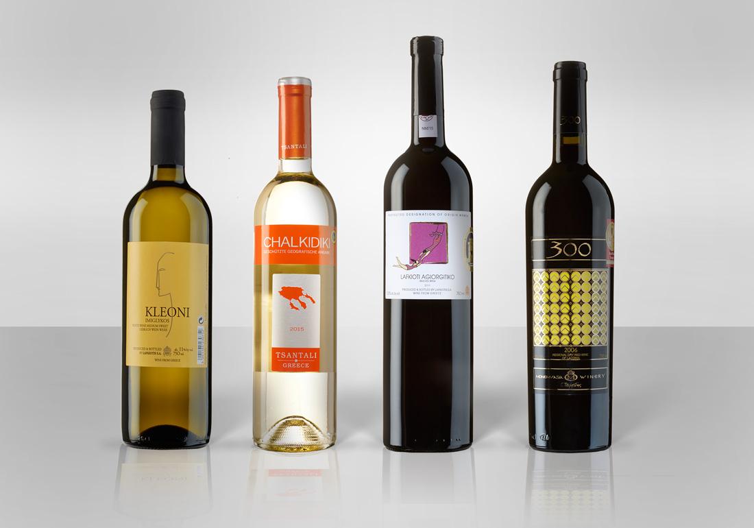 Produktfotos von Weinflaschen