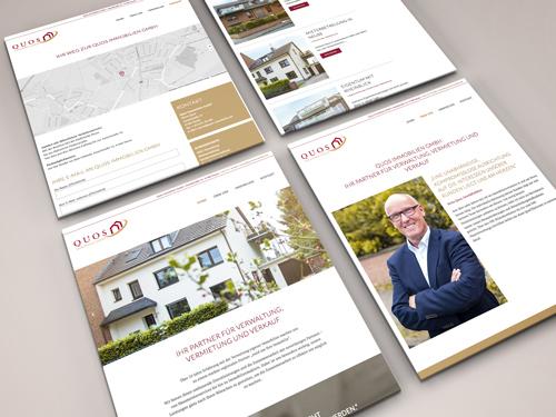 Webseite für Immobilienmakler