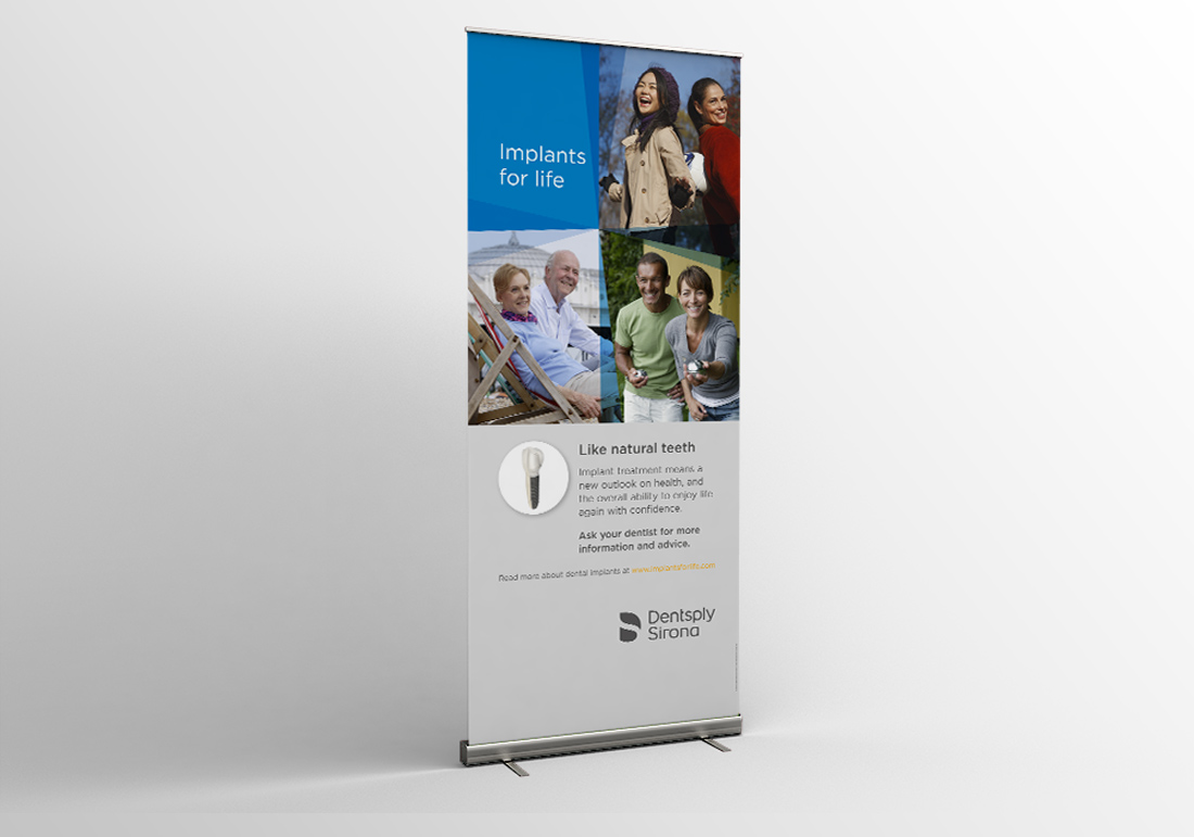 Rollup Display Design Dentsply