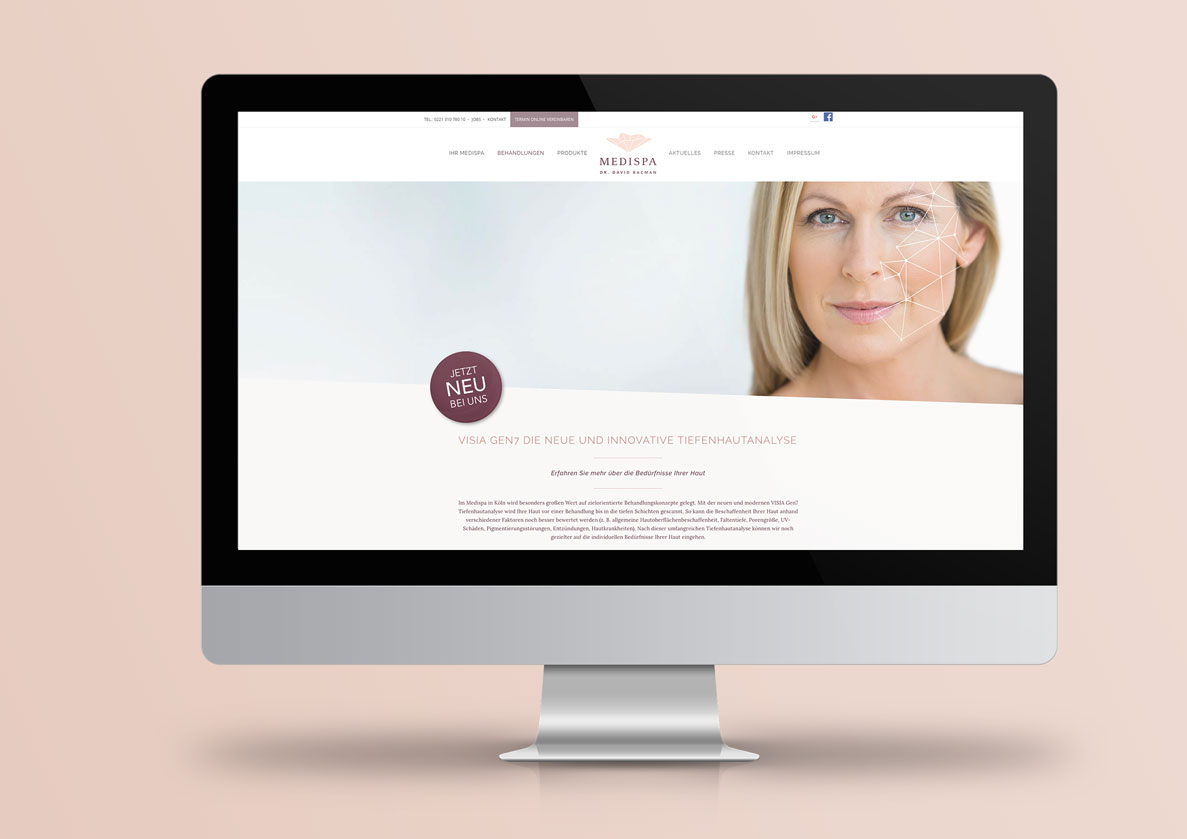 Webdesign für Dr. Bacman aus Köln