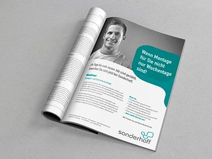 anzeige design personalkampagne sonderhoff werbeagentur düsseldorf