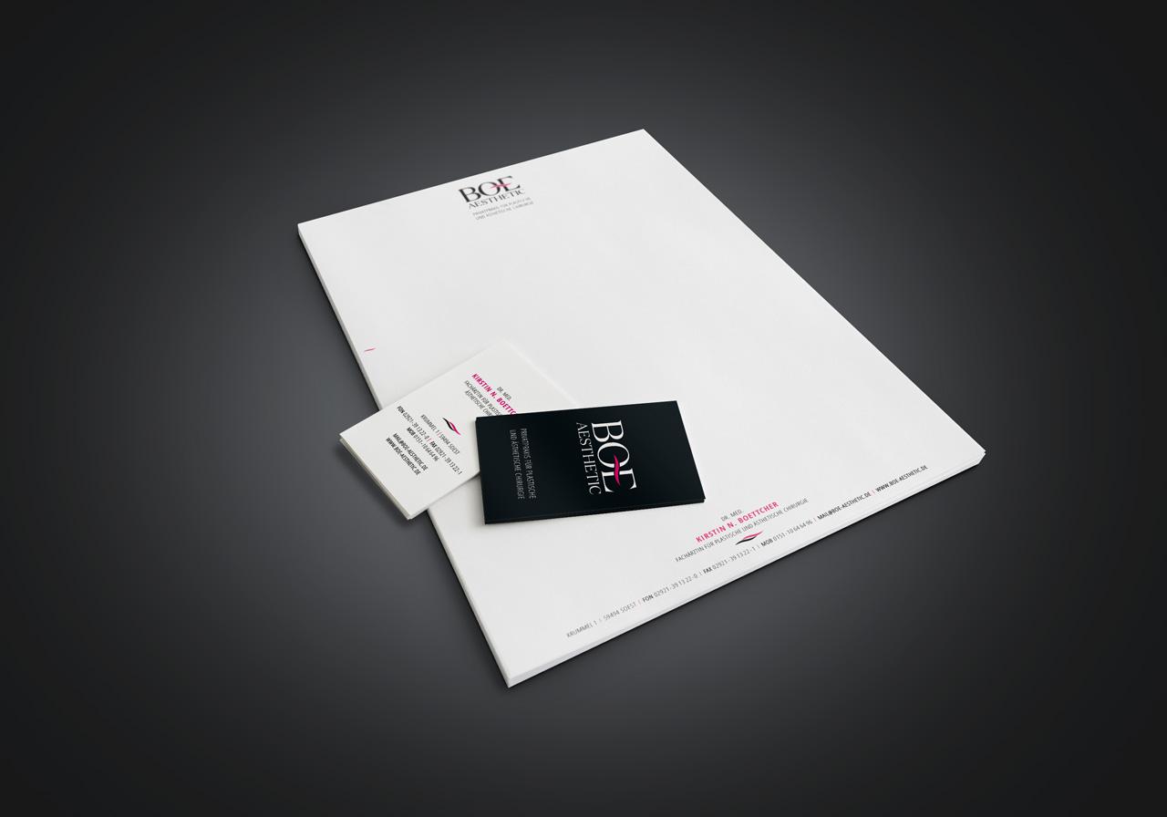 Printdesign für Boettcher Aesthetic