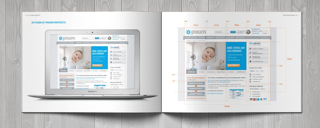 Screendesign webdesign pixum