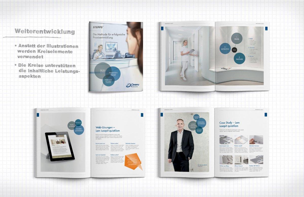 Entwicklung Broschüre Design