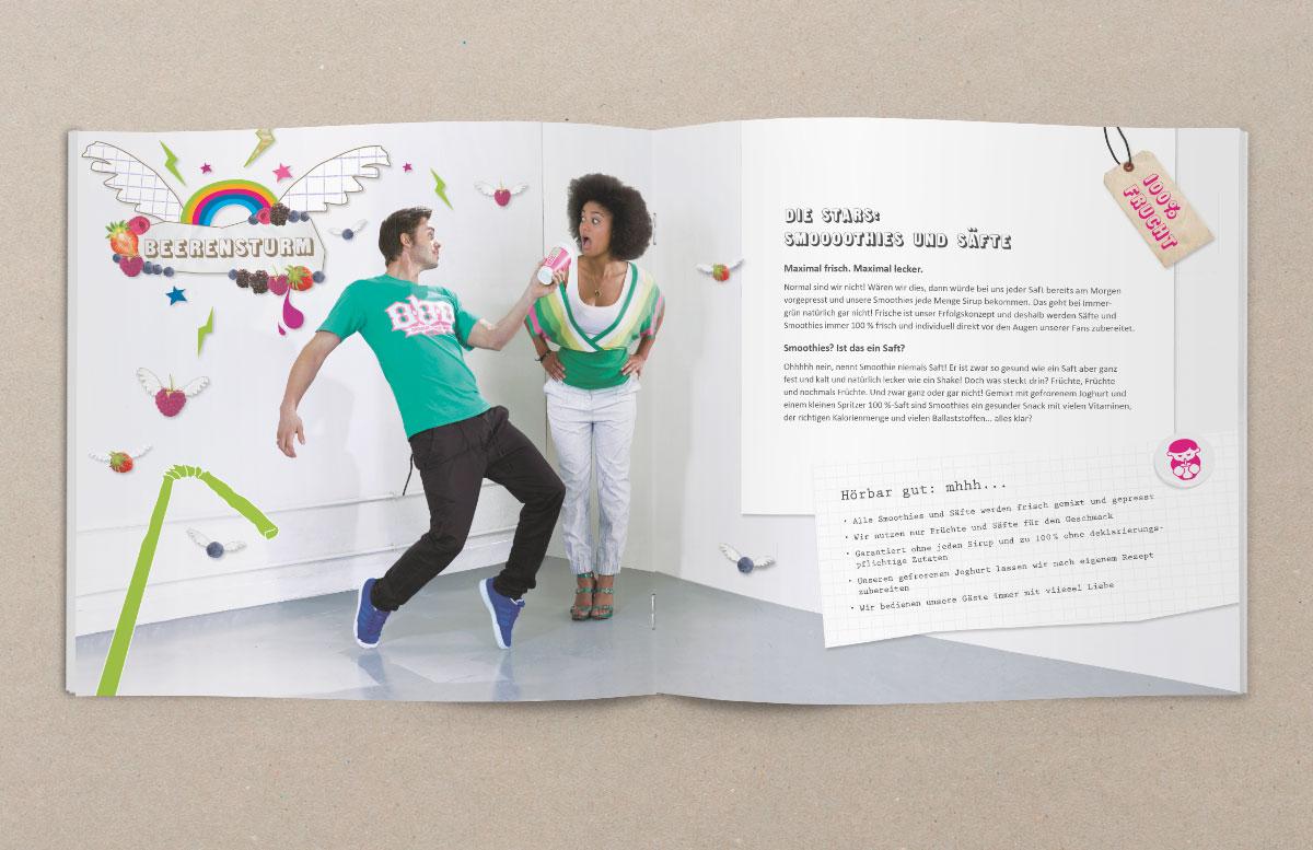 Broschüre design doppelseite