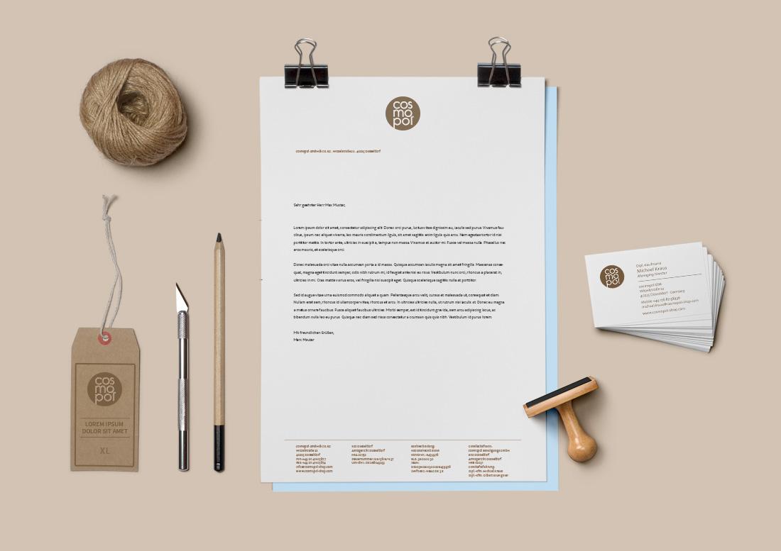 Corporate Design Briefbogen Geschäftsausstattung