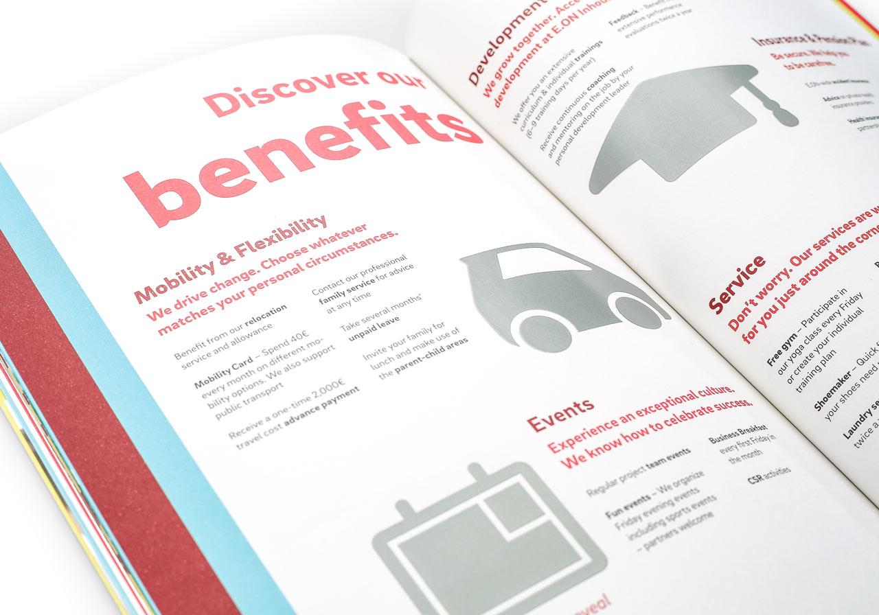 Broschüre mit Rubbelfolie Printdesign