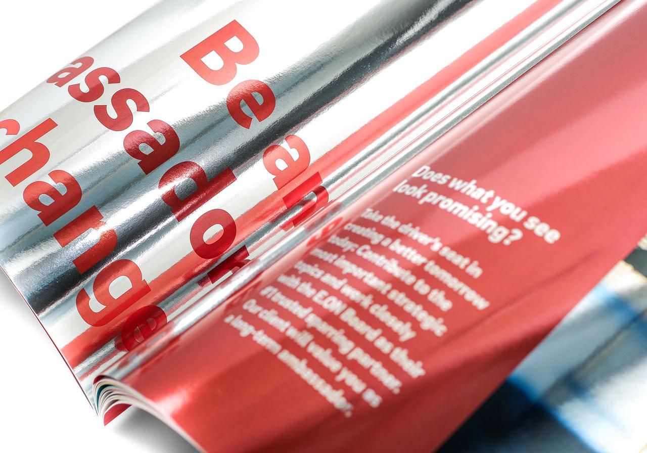 Design von April5 Werbeagentur auf Glitzerfolie drucken
