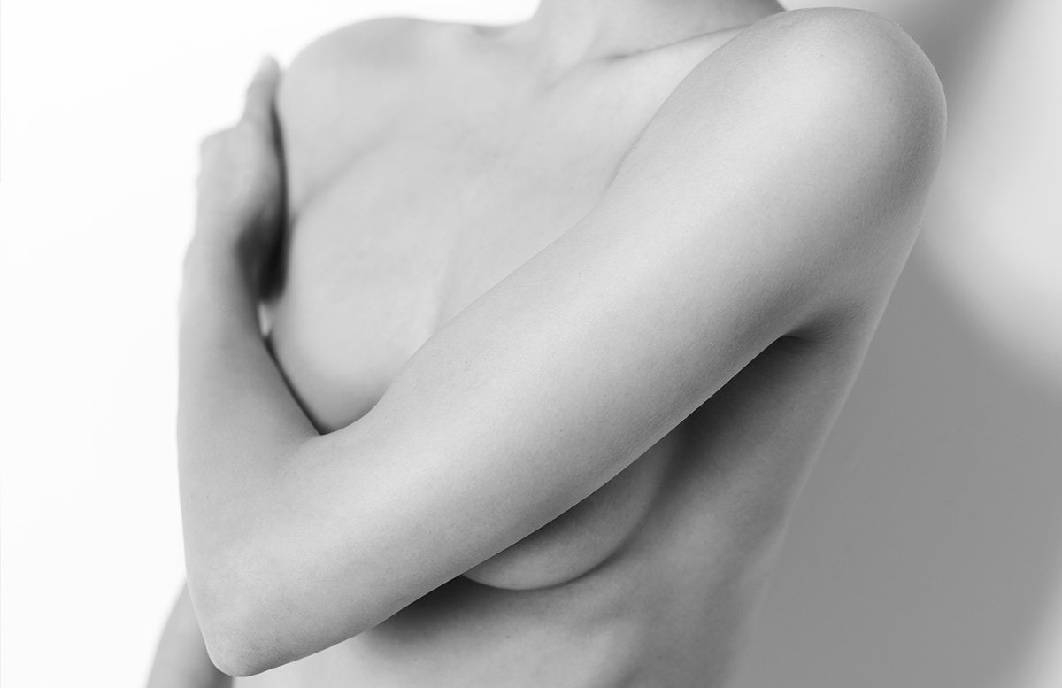 Fotoshooting brust frau