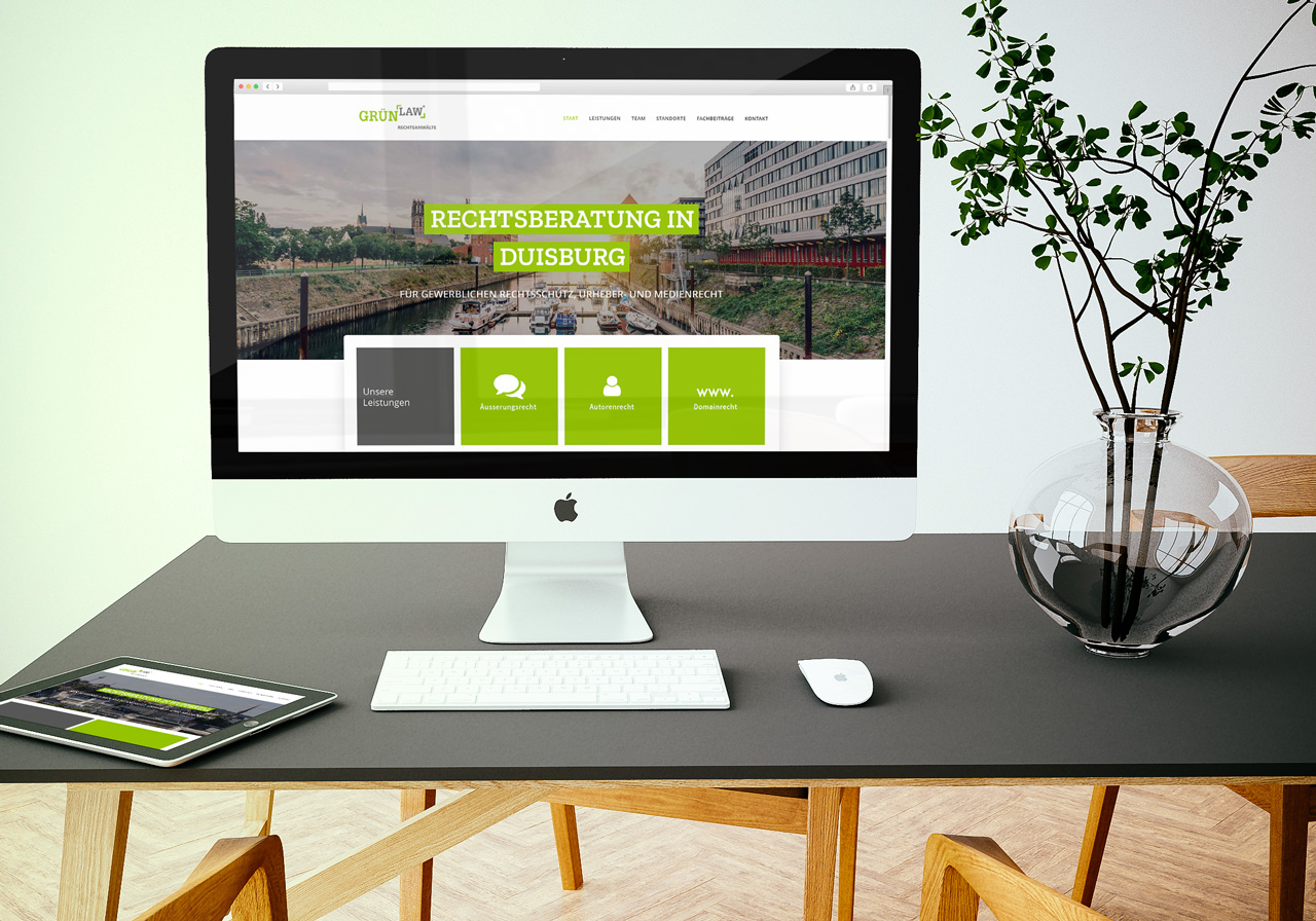 Responsive, mobil optimierte Webseite