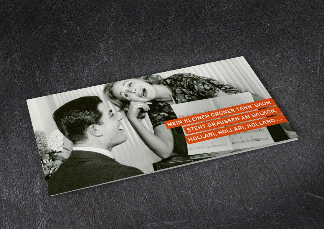 Weihnachtskarte retro design