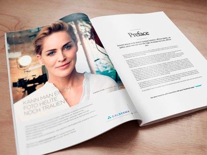 magazin broschüre design galderma werbeagentur düsseldorf