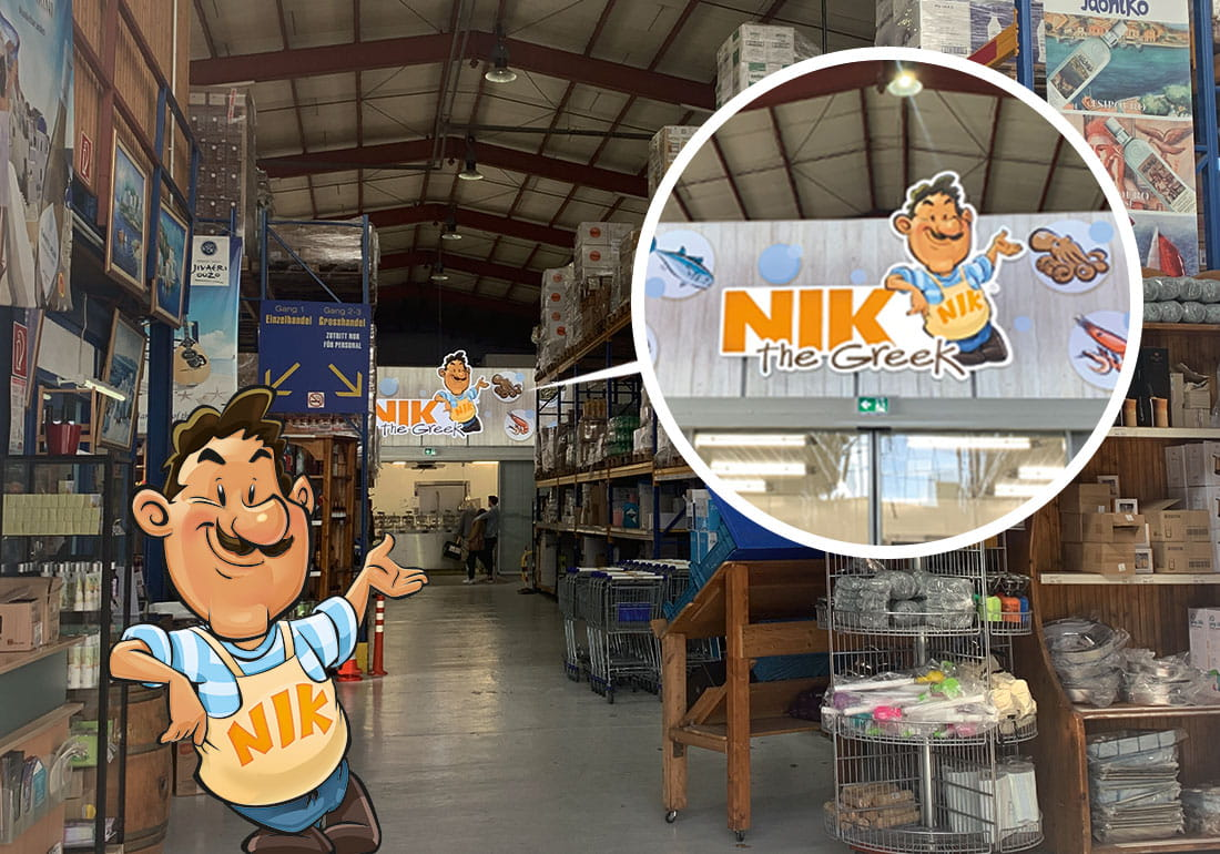 Point of Sale Marketing Nik the Greek