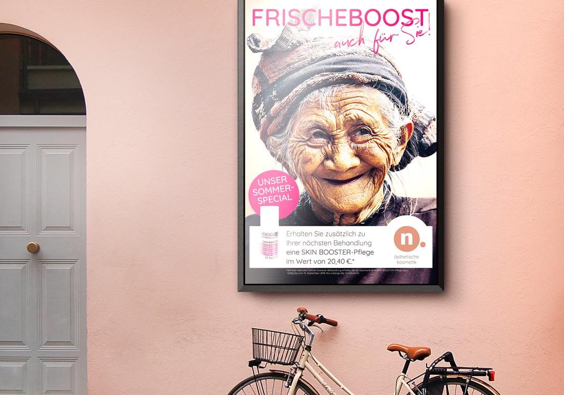Aussenwerbung Poster Kundenstopper Design
