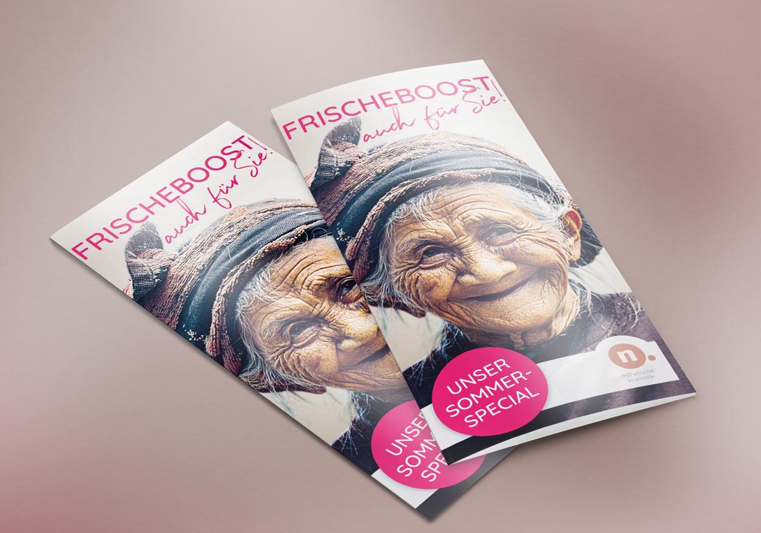 Broschüre Design für Kosmetikstudio