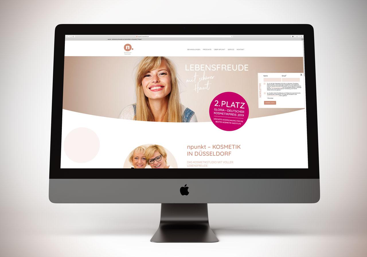 Webdesign für npunkt Kosmetikstudio in Düsseldorf