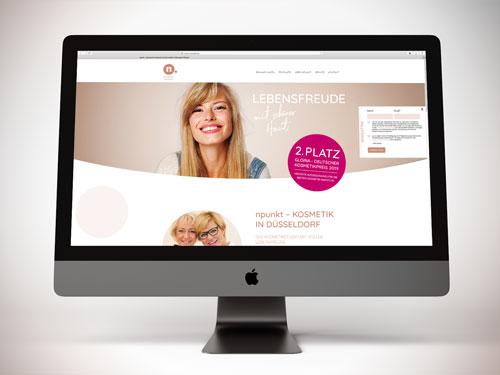 Webdesign für Kosmetikstudio in Düsseldorf
