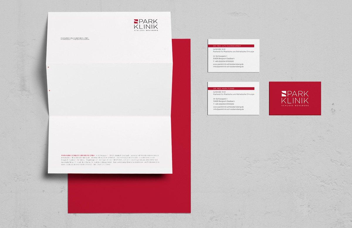 Geschäftsausstattung Visitenkarte Briefbogen