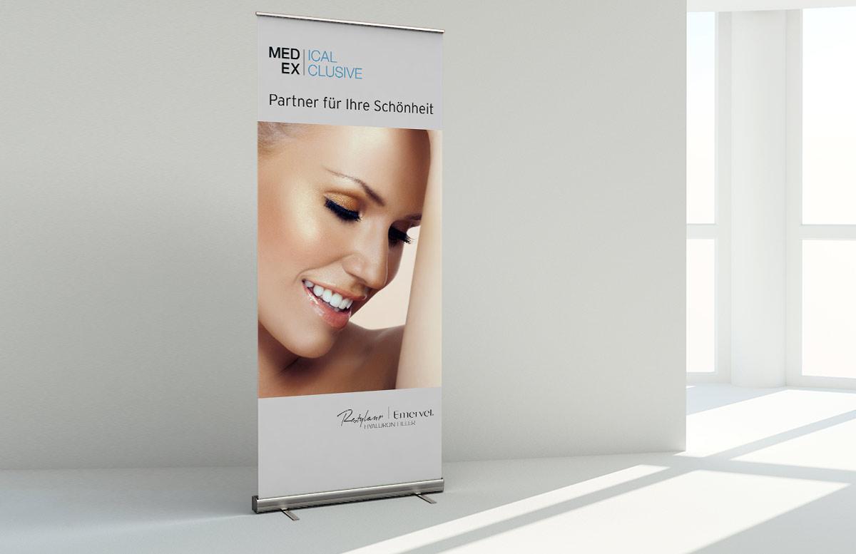 Roll-Up Banner Design Aufsteller