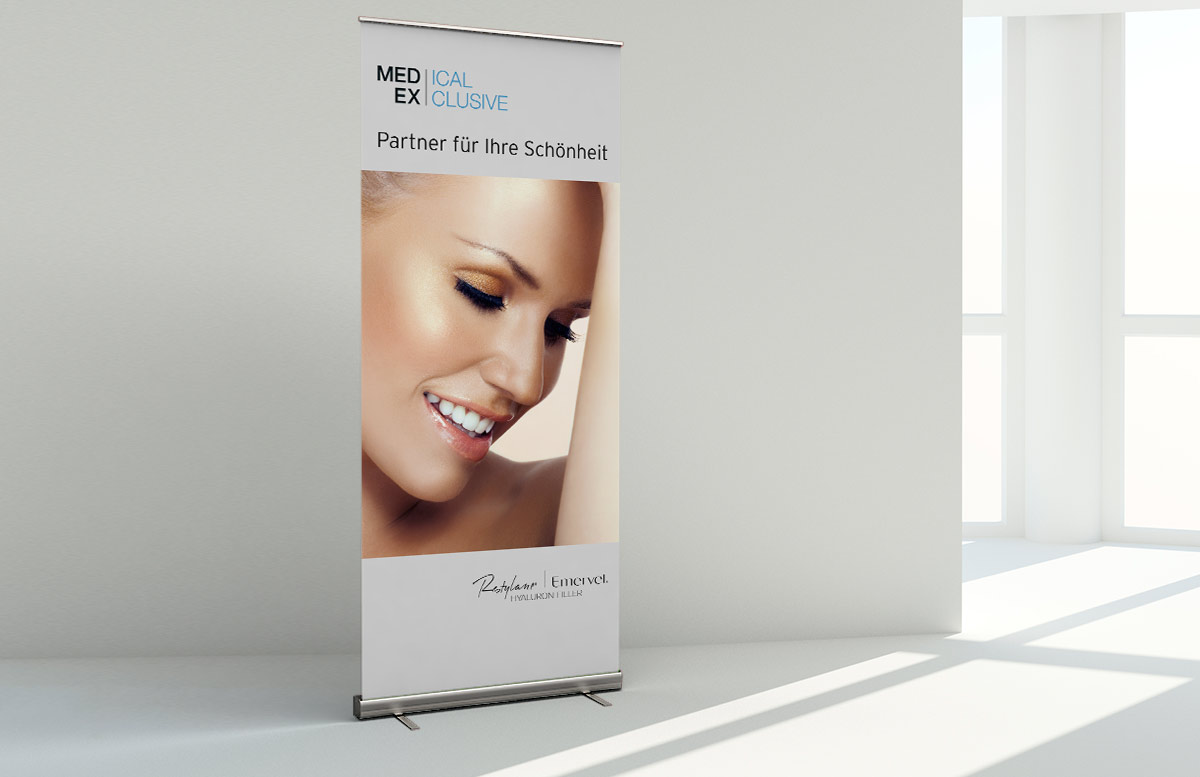 Roll-Up Banner Design Aufsteller