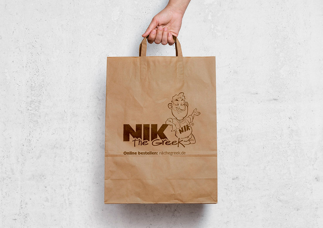 Produktdesign einer Tüte für NIK