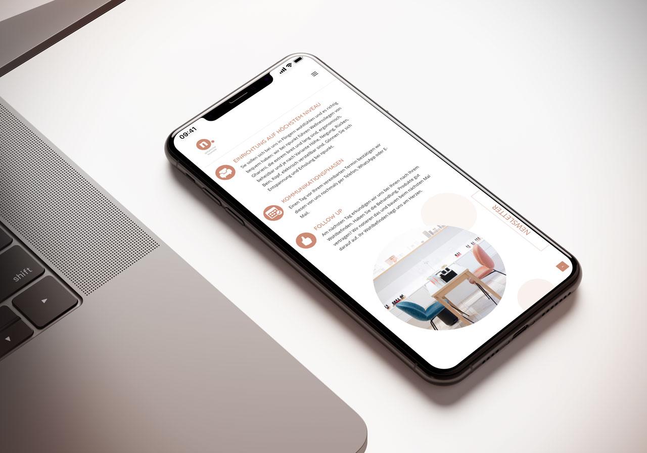 Webdesign responsive für iphone npunkt kosmetik Düsseldorf