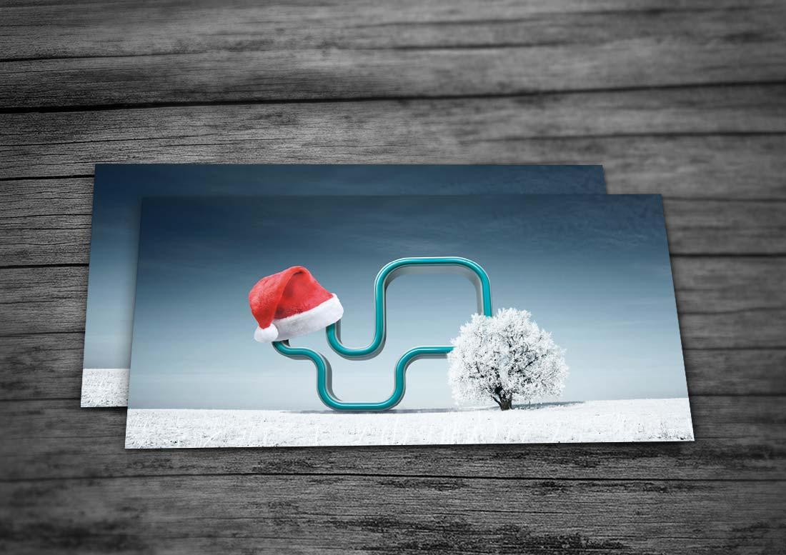 design und druck weihnachtskarte
