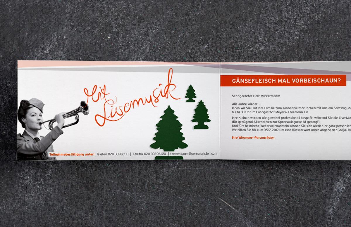 weihnachtskarte design retro