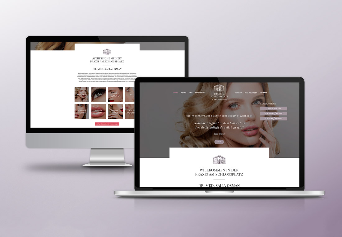 Webdesign für Ästhetische Praxis Wiesbaden