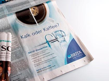 zeitungsanzeige kampagne design werbeagentur düsseldorf